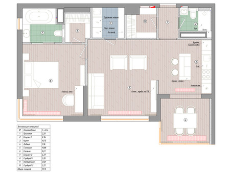 """Использование длинного коридора - апартаменты в """"Лахта Плаза"""""""