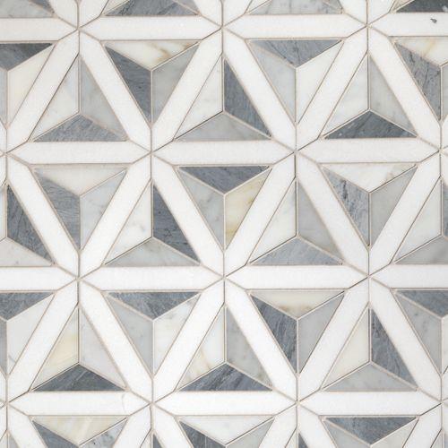мозаика треугольники из мрамора