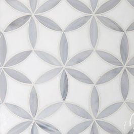 мозаика из белого и серого мрамора