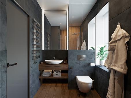 Практичный дизайн ванной комнаты