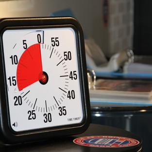 Vores smarte ur der tæller ned til en evt pause i undervisningen :-)