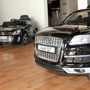 Miniudgaver af vores biler :-)