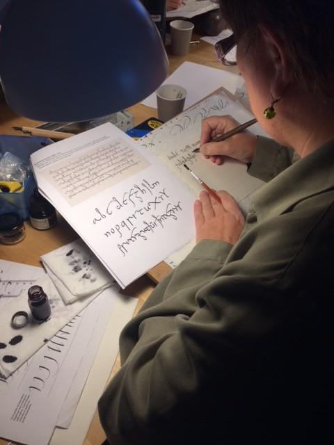 En sniktitt på kalligrafikurset jeg holdt