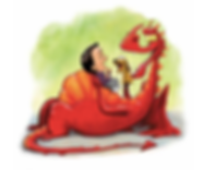 Dragon and baby laughing:puppet.png