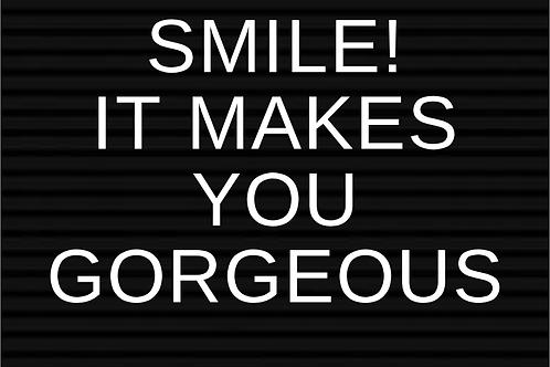 Kaart: Smit it makes you gorgeous