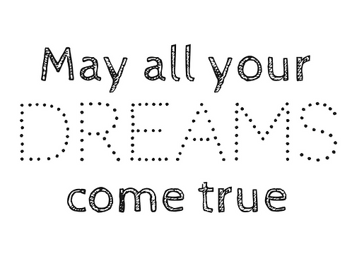 Kaart: May all your dreams come true