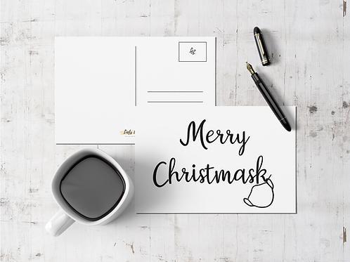 Kerstkaart: Merry Christmask