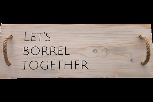 Hapjesplank: Let's borrel together