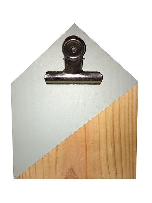 Klembord Huis Hout/Lichtgrijs