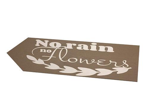 Wegwijzer: No rain no flower