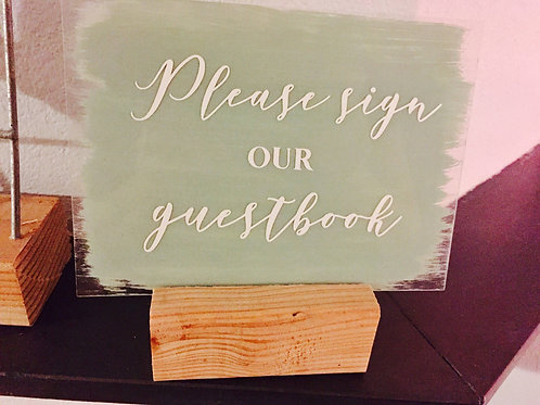 Weddingsign: Please sign our questbook
