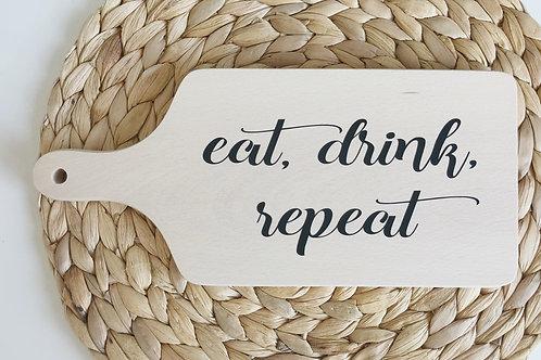 Hapjesplank: eat, drink repeat