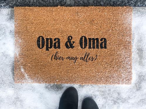 Deurmat Opa & Oma