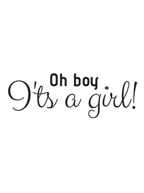 Kaart: Oh boy it's a girl!