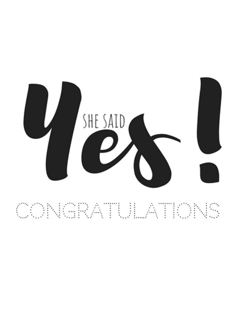 Kaart: She said Yes