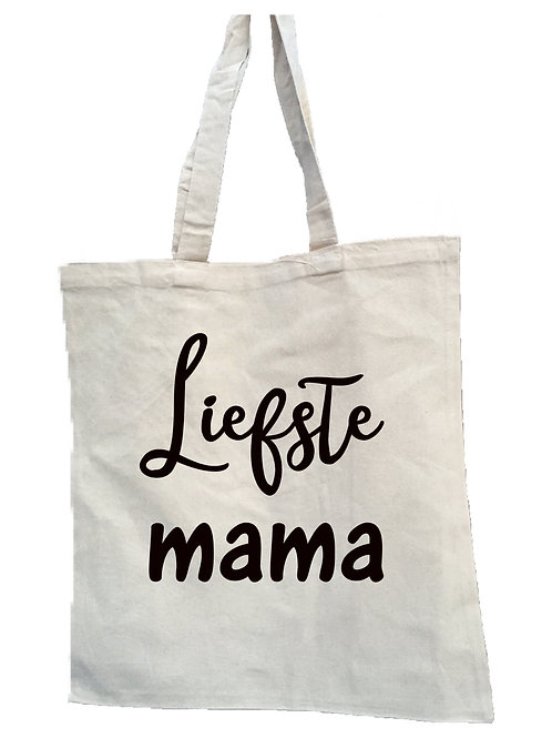 Canvas tas: Liefste mama