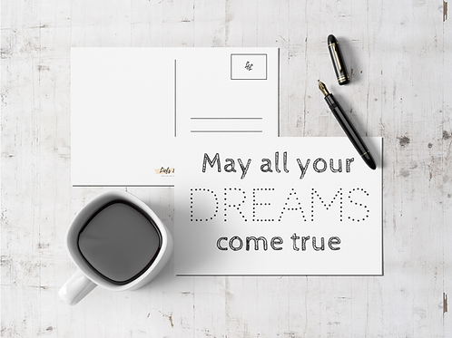 Kerstkaart: May all your dreams come true
