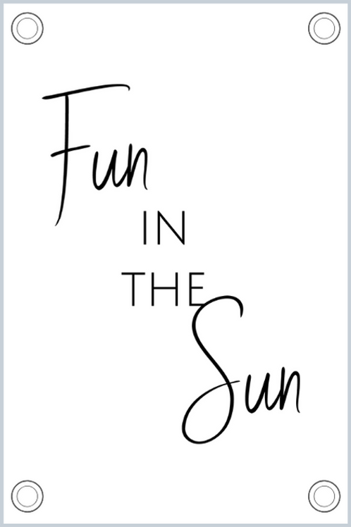 Tuinposter: Fun in the sun