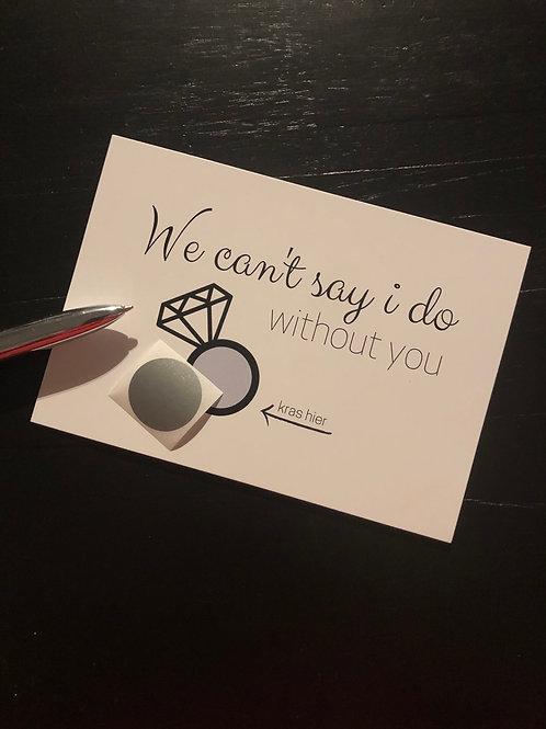 Kraskaart: can't say i do