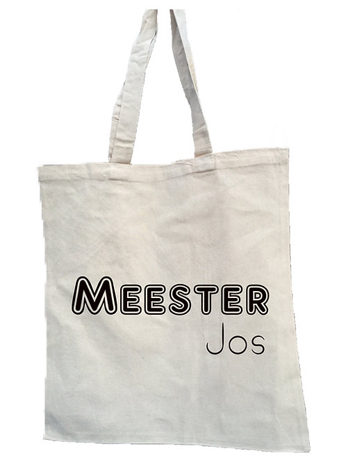 Canvas tas Meester