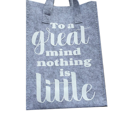 Tas Small: To a great mind nothing is little