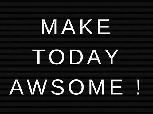 Kaart: Make today awesome