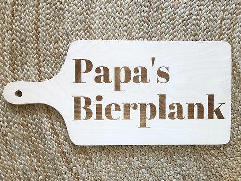 Hapjesplank gegraveerd: Papa's Bierplank