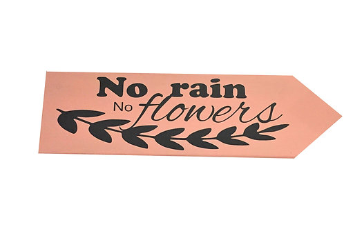 Wegwijzer: No rain no flowers