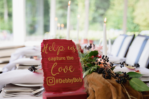 Weddingsign: Help us capture the love