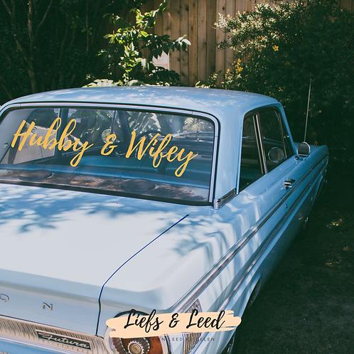 Sticker: Hubby & Wifey