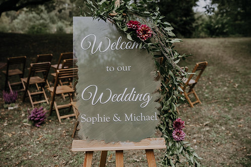 Huwelijksbord plexiglas L