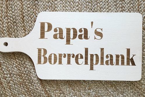 Hapjesplank gegraveerd: Papa's borrelplank