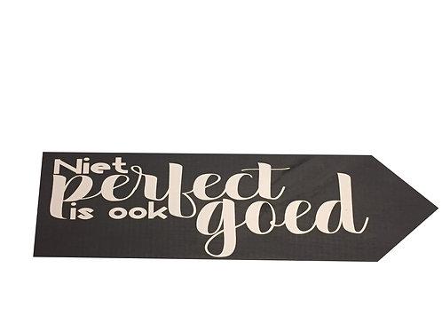 Wegwijzer: Niet perfect is ook goed