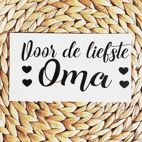 Sticker: Voor de liefste oma