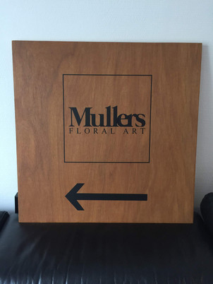 Bedrijfsbord Mullers Floral Art