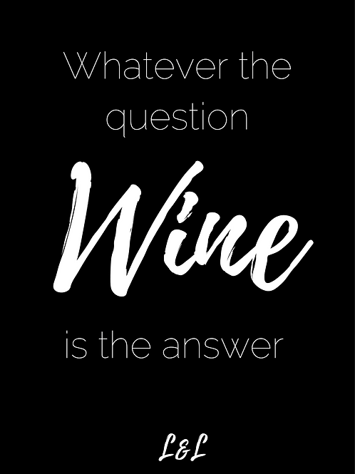 Wijnlabel: Wine is the answer