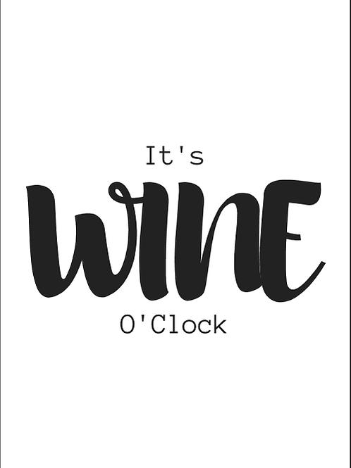Kaart: It's wine o'clock