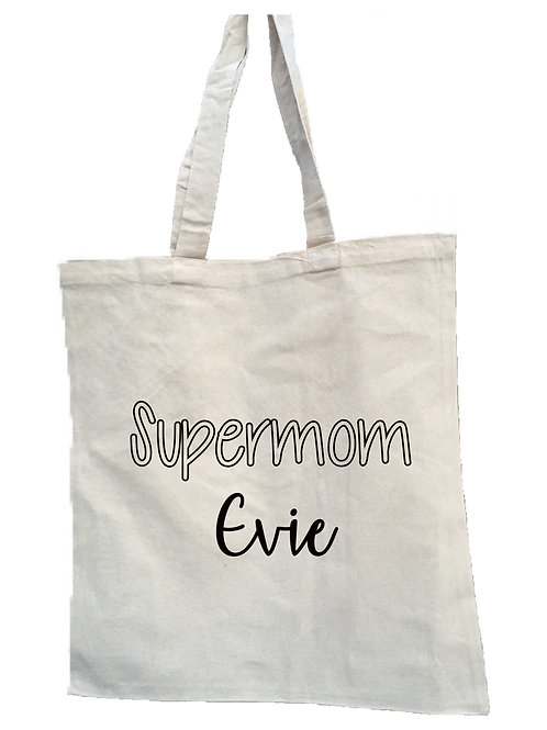 Canvas tas Supermom