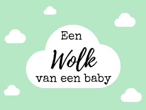 Kaart: Een wolk van een baby