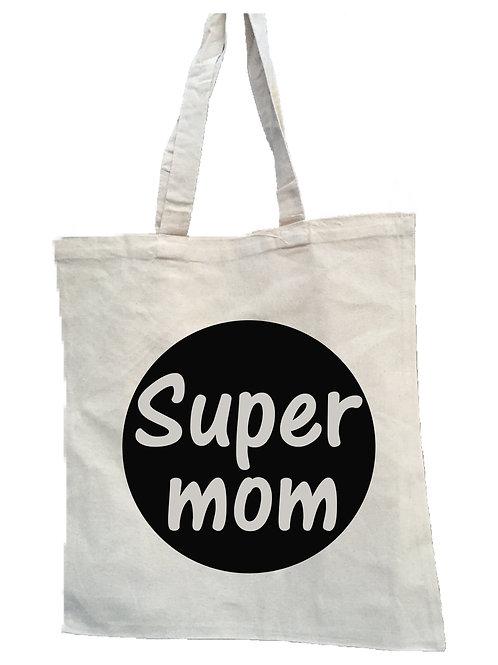 Canvas tas: Super mom