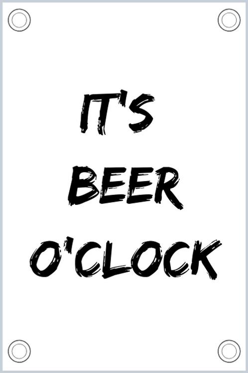 Tuinposter: It's beer o'clock