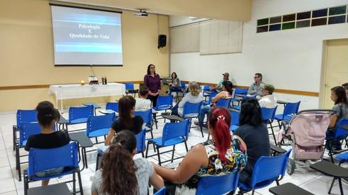 Beneficiários participam de palestra sobre Qualidade de Vida