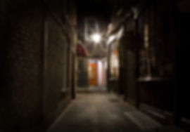 An old-fashioned London Alleyway in the