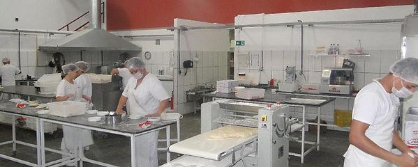 chão de fábrica da Le Pastine. Produção