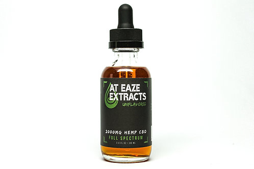 2,000MG UNFLAVORED TINCTURE