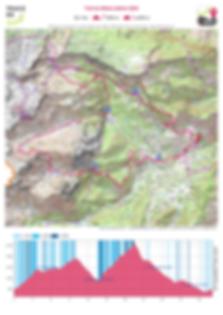 carte et profil trail du billare 32km 25