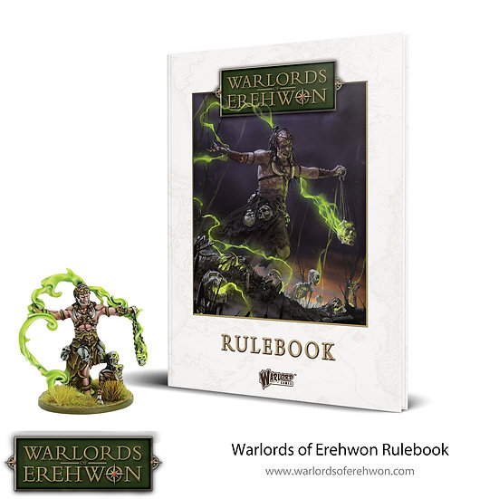 Warlords of Erehwon Rulebook (With exclusive miniature)
