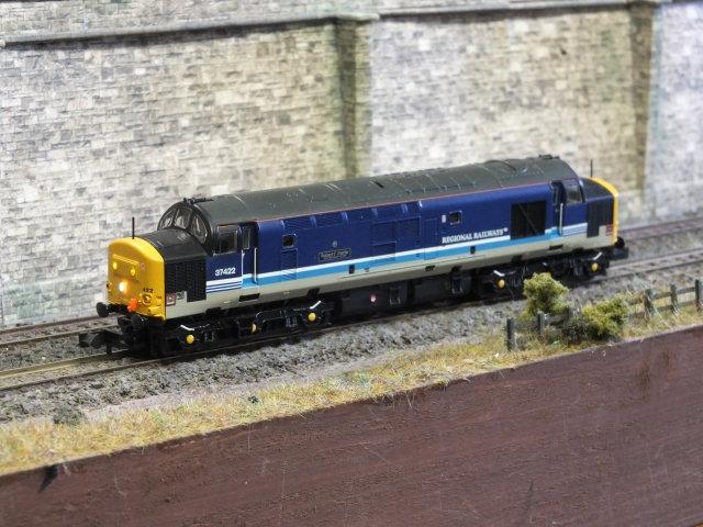 "Farish 371-170 Class 37/4 37422 ""Robert F. Fairlie"" in Regional Railways livery"