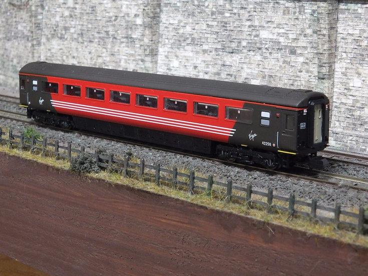 Dapol 2P-005-439 Mk3 TSO second open 42258 in Virgin Trains livery