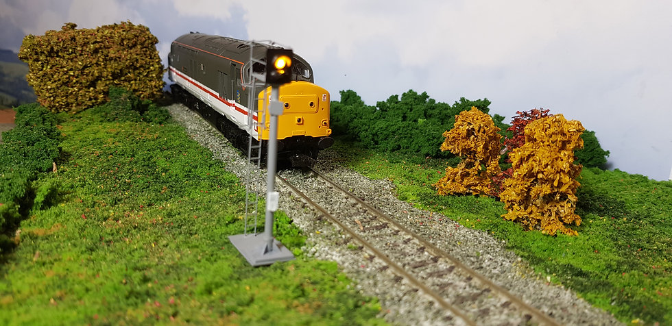 OO Gauge 2 Aspect Station Signal with Safety Cage